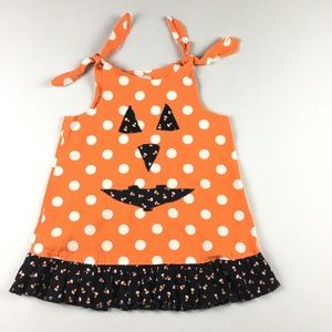 Sz 4T Girls  Halloween Pumpkin Dress Handmade